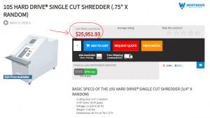 Hard Drive Shredder Price