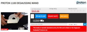 Proton 1100 Degaussing Wand Price
